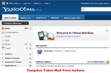 Yahoo Mail versi terbaru