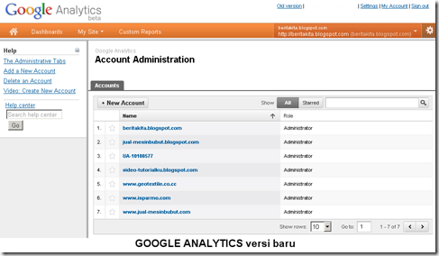 Google Analytics New Version