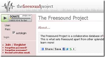 FreeSound - Download gratis Efek Suara