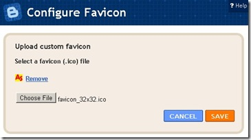 Blogger Configure Favicon