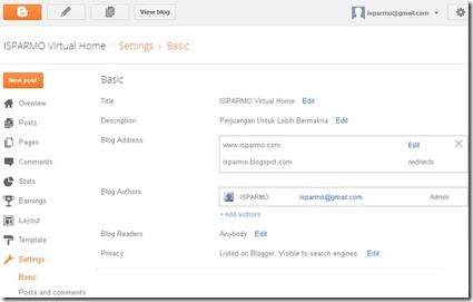 Blogger Setting New