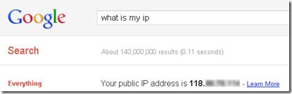 Cek IP via Google