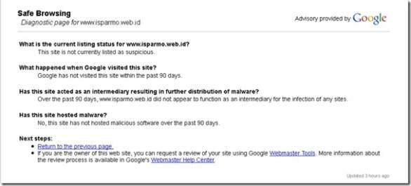 cek website dari virus