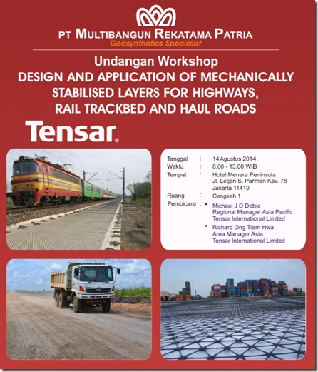 undangan workshop tensar geogrid