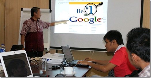 Google halaman 1 Workshop Internet Marketing
