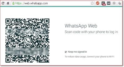 Cara menggunakan WhatsApp Web di komputer - scan code