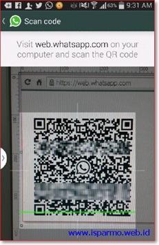 Cara menggunakan WhatsApp Web di komputer - scan code - hape Android