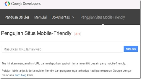 How to Mobile Friendly - Responsif design test