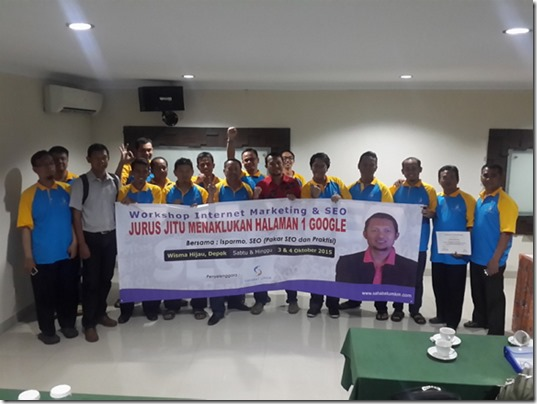 Pelatihan Internet Marketing dan SEO Website di Depok Oktober 2015 ISPARMO
