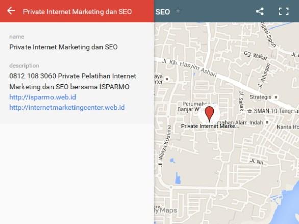 jualan online menggunakan google maps - isparmo 0812 108 3060