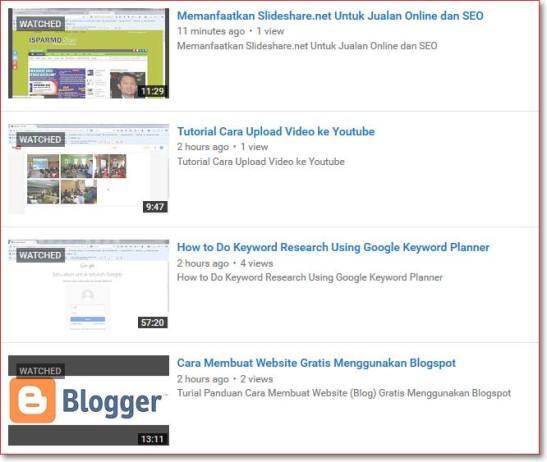 Video Tutorial Belajar Internet Marketing dan SEO