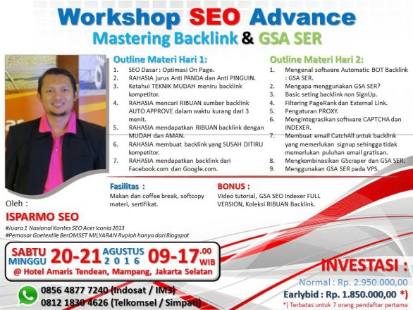 kursus pelatihan seo internet marketing jakarta