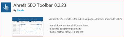 ahrefs seo toolbar Firefox UR DR