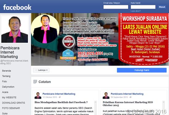 berjualan menggunakan fanspage facebook