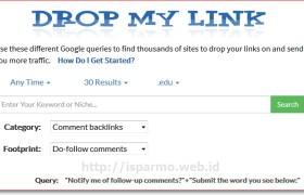 Footprint SEO untuk mencari Backlink