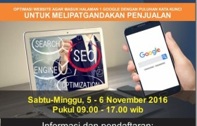 Pelatihan Internet Digital Marketing SE
