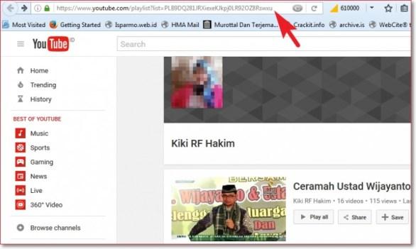 Cara download playlist video youtube dan mengconvert ke mp3 pilih Playlist isparmo.web.id