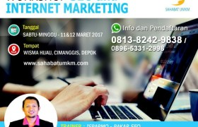 Pelatihan Digital Internet Marketing Kursus SEO Depok 2017
