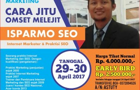 Pelatihan Kursus SEO Internet Marketing Dasar di Makassar April 2017 ISPARMO