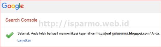 Cara memasang Google Webmaster Tool Pakar SEO