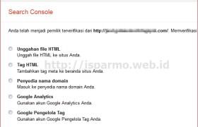 Cara mendaftar Google Webmaster Tools