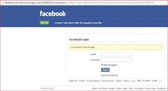 contoh website phising facebook
