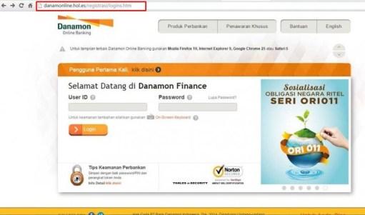 contoh website phising internet banking