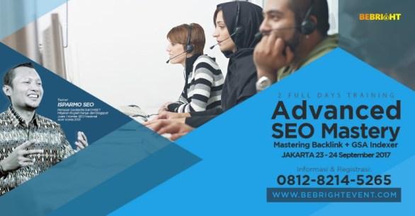 Pelatihan Kursus SEO Advance Jakarta 23-24 September 2017
