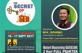 Kursus SEO Advance di Bandung 16-17 September 2017