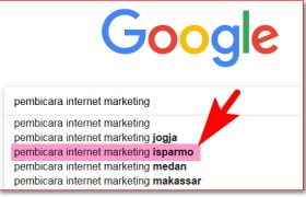 Rekayasa Google Suggest Pembicara Internet Marketing
