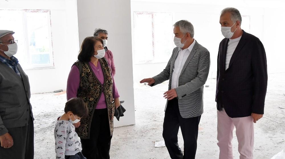 Isparta Belediye Başkanı Başdeğirmen, Cemevi inşaatını inceledi