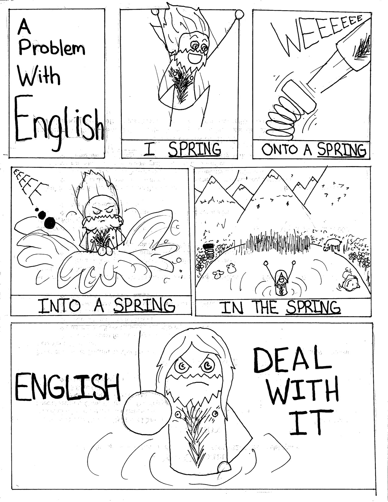 Weekly Comics A Problem With English