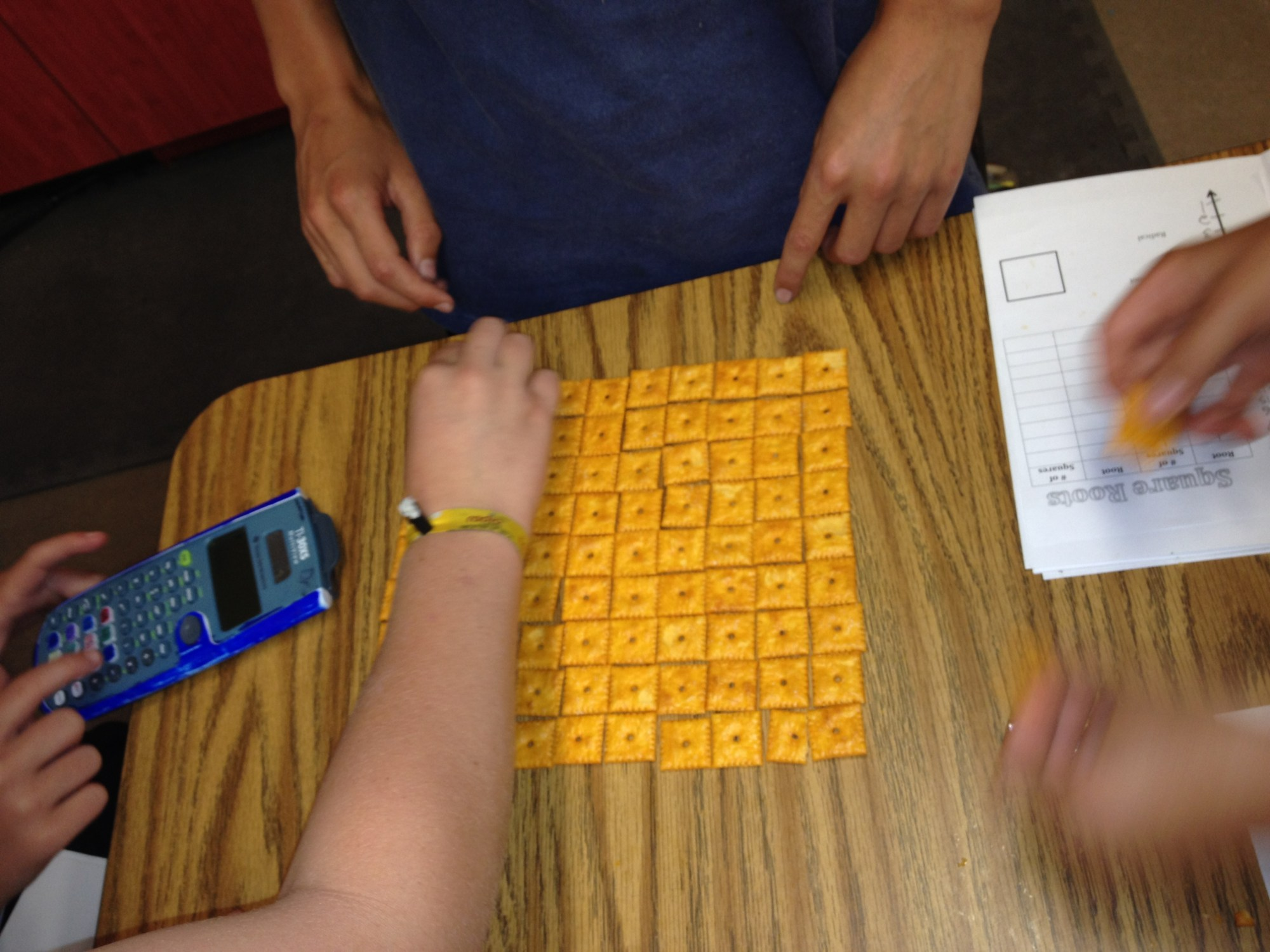 hight resolution of Square Roots with Cheez-Its and a Graphic Organizer   I Speak Math