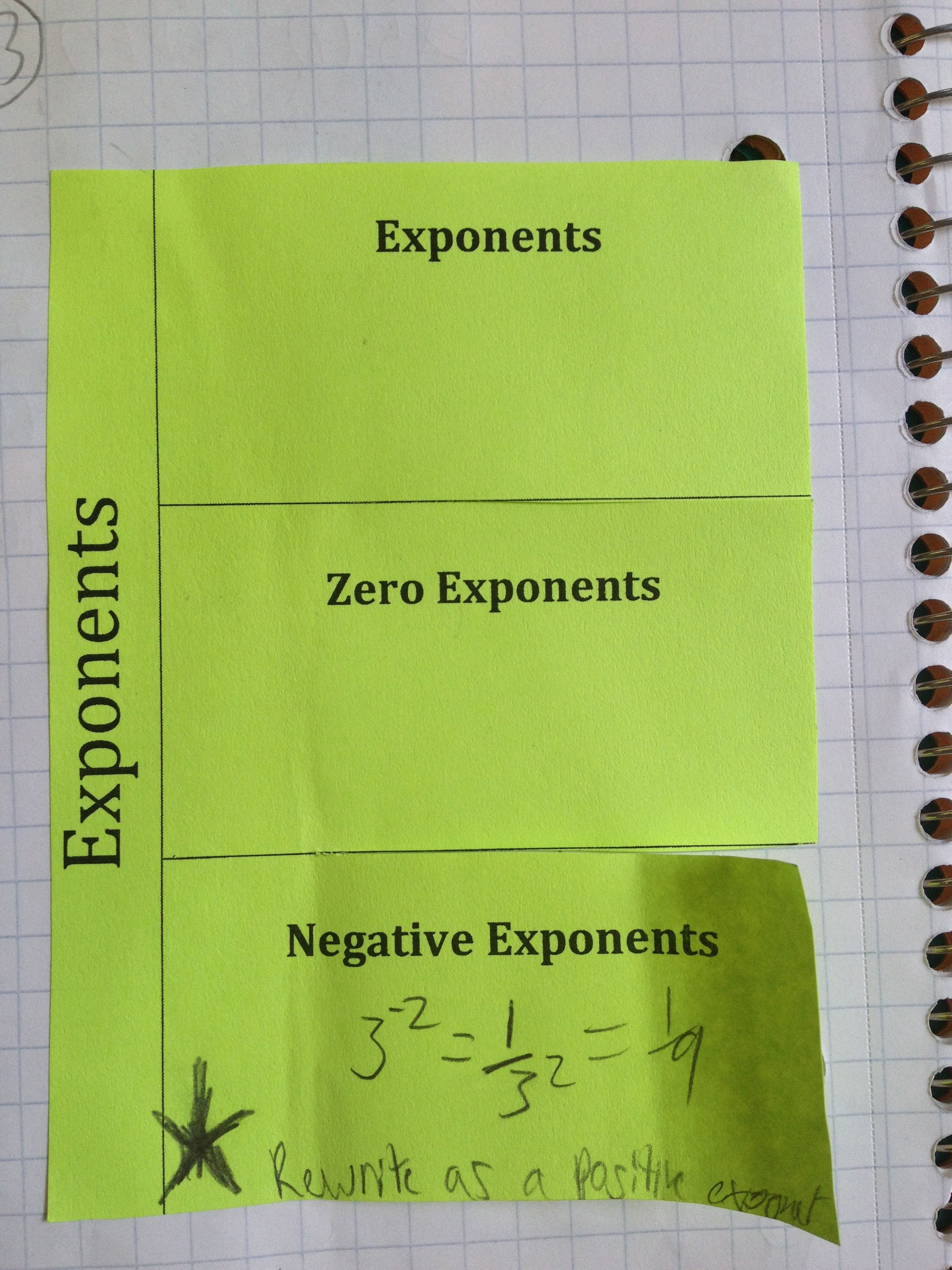 Foldables Place Value Exponents And Scientific Notation