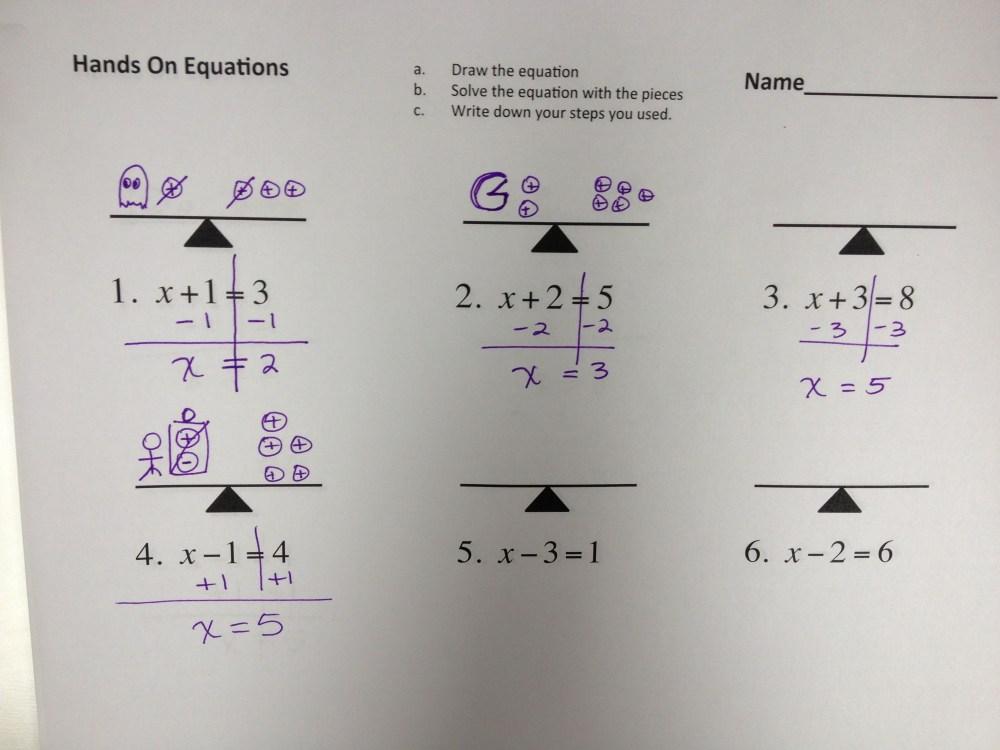 medium resolution of Solving Equations – MONSTER MATH!   I Speak Math