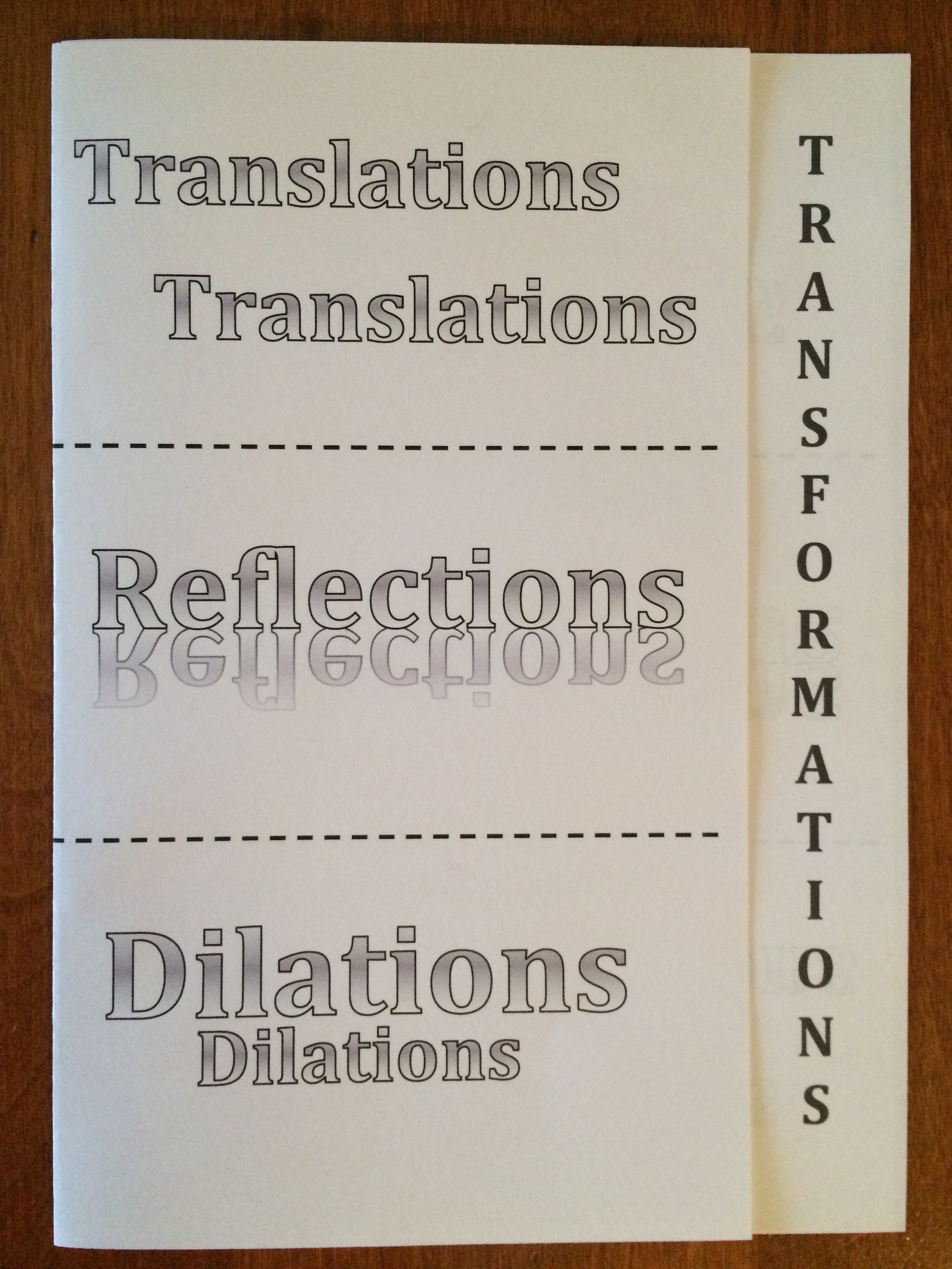 Geometry Transformation Foldable Translate Reflect
