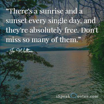 Sonnenaufgang Zitate, um Ihren Tag zu erhellen |  Ich spreche Zitate