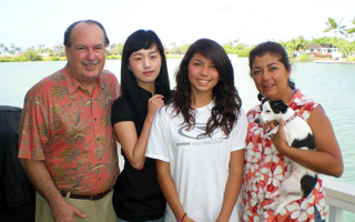 ISP student with her homestay family
