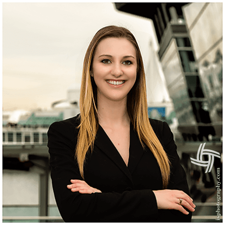 Friendly, Youthful, Energetic, Corporate Environmental Portrait  downtown Vancouver, Coal Harbour