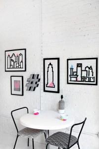 HOME DIY | Washi Skyline Wall Art