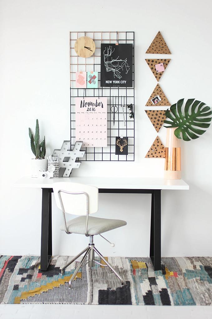 MY DIY  Grid Wall Organization