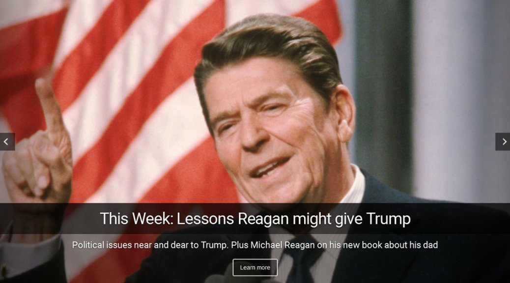 Lessons Reagan might give Trump