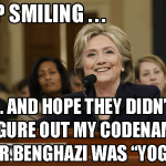Hillary Clinton Yoga Pants Code Name for Benghazi