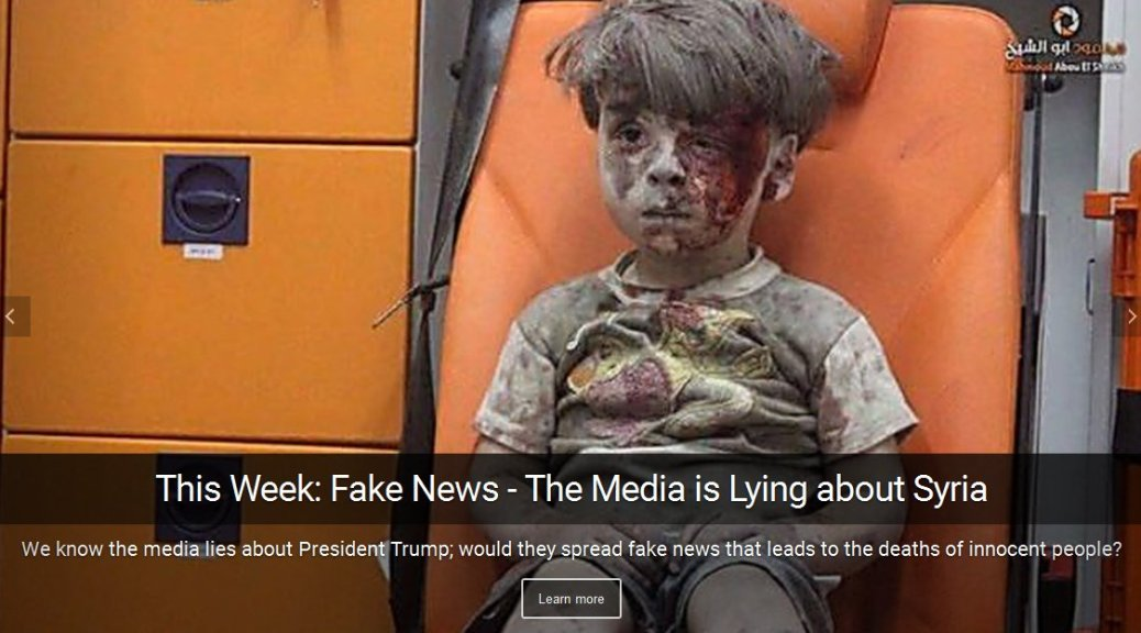 fake news - media lying about Syria