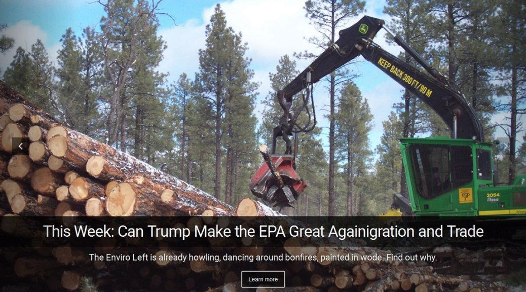 Can Trump Make the EPA Great Again?