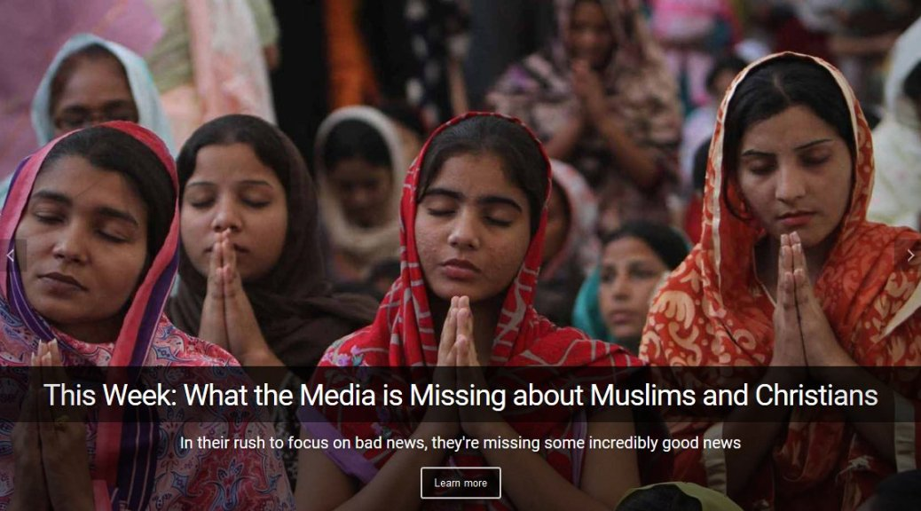 In the war between Muslims and Christians the mainstream media is missing some incredibly good news