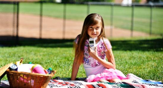 girl at picnic