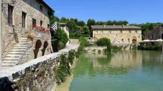 Bagno Vignoni, el pueblo de las termas