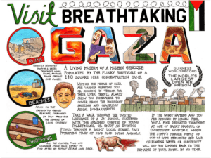 Cartoon Visit Breathtaking Gaza Darren Cullen