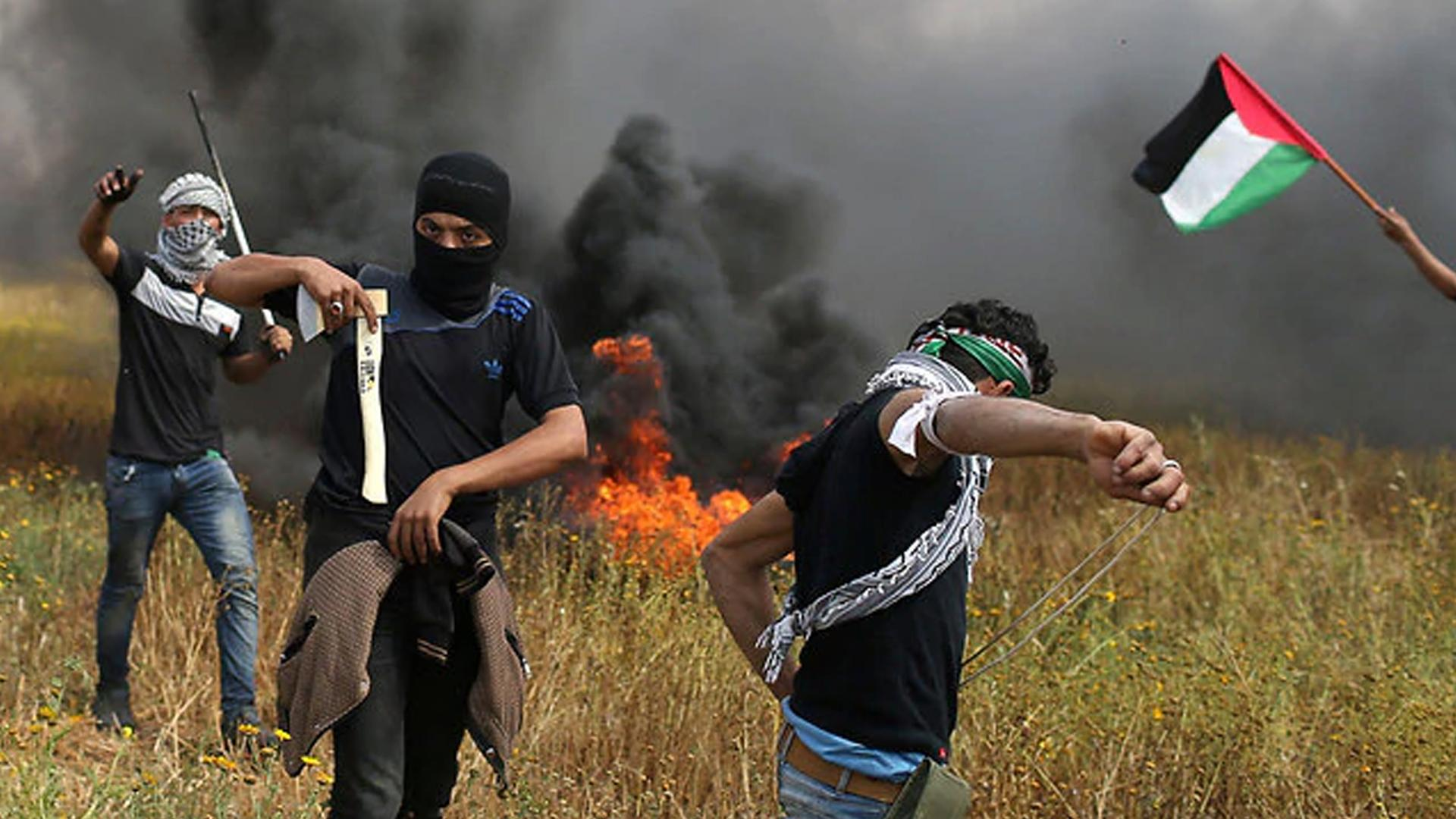 The violent riots on the Gaza border